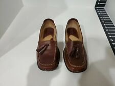 Born Womens Brown Leather Loafers Size 7 M