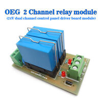 (US) 2 Relay Module DC24V Dual Control Panels Two-way Driver Board Module