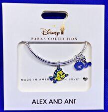 Disney Parks ALEX & ANI bracelet Flounder Little Mermaid silver tone - NEW