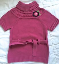 Gymboree All About Buttons fuchsia sweater top VGUC XS 3-4