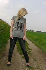Trachten Shirt, grau, Wiesnkönig, Druck, Gr S, Dirndl, Lederhosn Gr 34/36