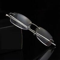 Rimless Aluminum alloy magnesium reading glasses frameless for reader +1.0~+3.5