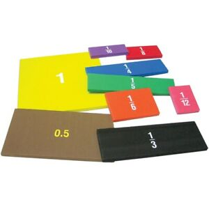 Foam Fraction Squares by Teacher Created Resources