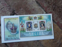 1984 ROYAL ISSUE   BELIZE  MINI SHEET  OFFICIAL FIRST DAY COVER