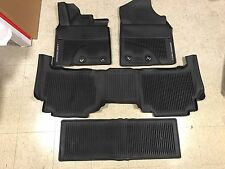2016-19 Toyota Land Cruiser 4PC OEM All Weather Floor Liners Mats PT206-60160-02