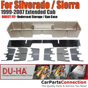 DU-HA 10003 Underseat Storage for 99-07 Silverado Sierra Extended Cab Tan