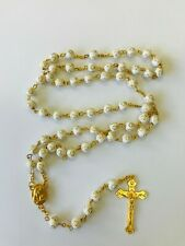 Rosary Of Gold Cross Sign Beads With Crucifix In Gold