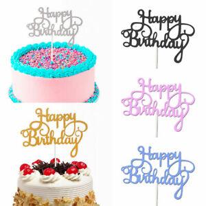 10pcs Glitter Paper Cake Topper Cupcake Dessert Birthday Party Decor Supplies