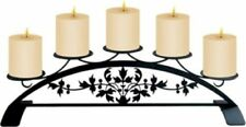 Wrought Iron Table Top Centerpiece Pillar Candle Holder Victorian Hold 5 Candles