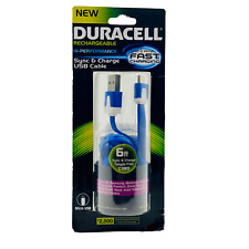 Duracell Hi-Performance 6 FT Micro-USB Sync & Charge Tangle-Free Fast Charging