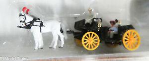 Preiser N #79481 Horse-Drawn Wagon -- Open Carriage (1:160th Scale)