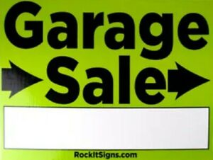 Garage Sale Sign BIG