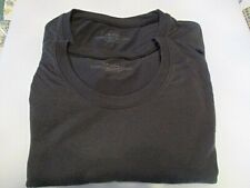 Lot of 2 Mens Under Armour TShirt Large L Black Under Core Polyester Rayon Blend