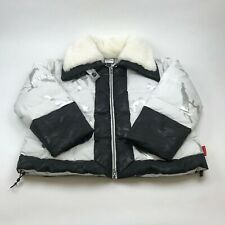 BIANNUAL PUFFER JACKET 'CAMO' WHITE WOMEN'S SMALL