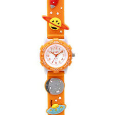 Sun Flame J-AXIS サンフレイムキッズ TCL24ーOR Space Planets Kids Watch Orange Japan