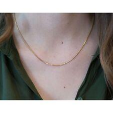 585er Gelbgold Schlangenkette Herren Damen 14K Gold Halskette 1,40 mm 45 cm