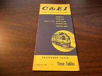 JANUARY 1955 C&EI CHICAGO & EASTERN ILLINOIS RAILROAD PUBLIC TIMETABLE