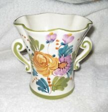 Vintage Medium Floral Ceramic Vase made in Portugal - Great Condition!