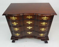 Baker Furniture Mahogany Chippendale Bachelor Chest 44 inches