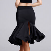 HOT Womens Latin Salsa Tango Rumba Cha Cha Square Ballroom Dance Dress Skirt