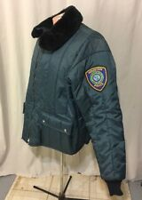 Obsolete Police Bomber Style Jacket Coat w Faux Fur Collar Mens 3X