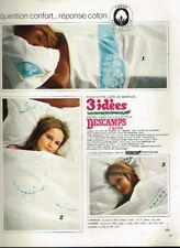 K- Publicité Advertising 1968 Linge de maison les draps Descamps L'Ainé
