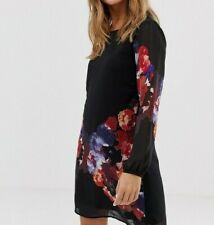 YUMI Tunic Shift Dress In Watercolour Floral Print - Size UK6 , BNWT
