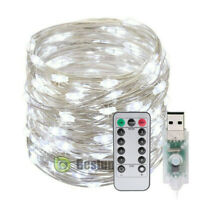 10M 100LED USB Copper Wire RGB Fairy String Light With Remote Xmas Party 2020 N