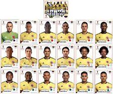 Panini WM 2018 Russia Sticker - Mannschaftspaket Kolumbien (Sticker 633-651)