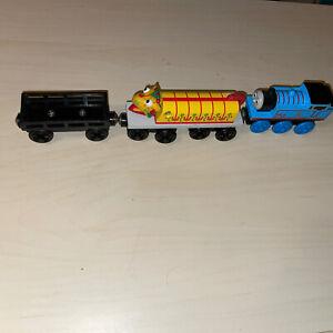Thomas Wooden Railway Train CHINESE DRAGON Yellow Carnival Black Cargo Car Used