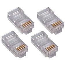 10x RJ45 8P8C Netzwerkstecker UTP zum crimpen LAN/DSL Netzwerk Paket 10 Stück