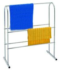 Sabichi Chrome Plated Standing Bathroom Towel Rail Holder Stand