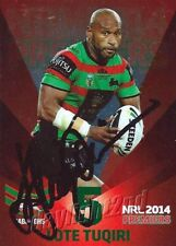 ✺Signed✺ 2014 SOUTH SYDNEY RABBITOHS NRL Premiers Card LOTE TUQIRI