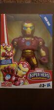 New listing Marvel Super Hero Adventures Mega Mighties Iron Man Poseable Figure Hasbro New