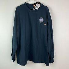 Dickies Mens Shirt 2xl Long Sleeve Dark Blue Heavy Weight 100% Cotton NWT