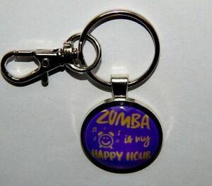 Zumba is my happy hour keychain pendant nekclace jewelry dancing fitness zumba