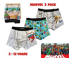 Boys MARVEL Spiderman Superhero Boxers Pants Briefs Kids Underwear 3 PACK