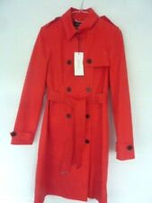 BNWT NEW KAREN MILLEN LUXURY RED TRENCH MAC COAT SIZE 8 OCCASION WEDDING RACES