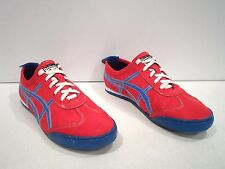Asics Men's Onitsuka Tiger Shoes Size 8 Red Blue Running Athletic