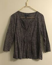 GAP Pullover Tunic Blouse Shirt Top Sz Xs Navy Blue White Dots NWOT Boho Summer
