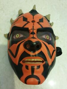 Star Wars Darth Maul Talking Electronic Mask Hasbro 2011 Tested & Working