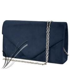2dc0c2a7a7 Pochette blu cerimonia scamosciata clutch elegante borsetta da donna sera  2019