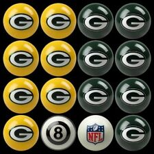 NFL Green Bay Packers Pool Ball Billiards Balls Set w/ FREE Shipping