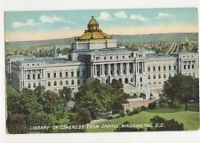 Library of Congress From Capitol Washington DC USA 1911 Postcard 131a