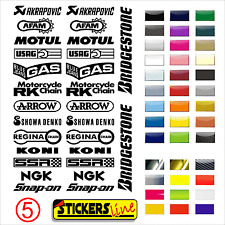 Aufkleber Set Sponsor Techniker Motorrad Rumpf Motorcycle Stickers Mod. 5