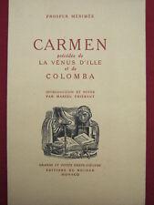 CARMEN / LA VENUS D'ILLE / COLOMBA Prosper MERIMEE 1945