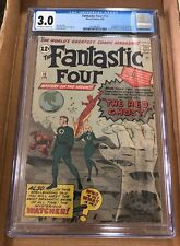 Fantastic Four #13 CGC 3.0. 1st App the Watcher & Red Ghost. Spider-Man 1 Ad