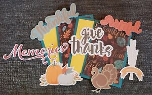 Holiday Thanksgiving scrapbook page set photo mats and printed die cuts set #159