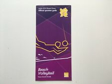 2012 LONDON OLYMPICS - beach volleyball - official spectator guide - good cond