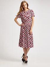 JOSEPH Freja Floral Print Crepe Dress Large 42